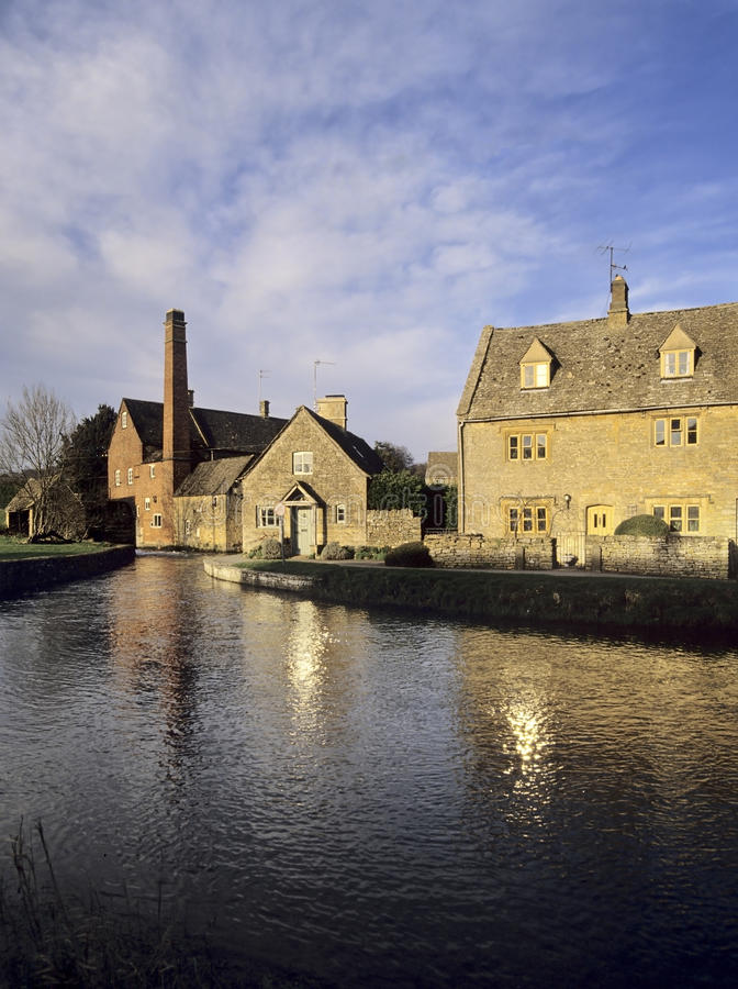 Download Lower slaughter stock image. Image of river, home, tradition - 23208673