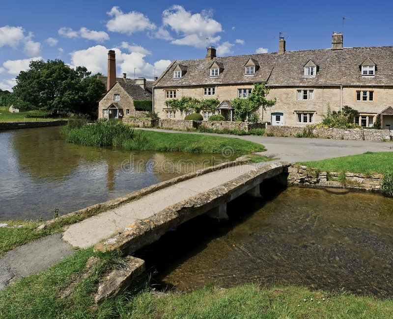 Lower slaughter. Village the cotswolds gloucestershire the midlands england uk stock photo