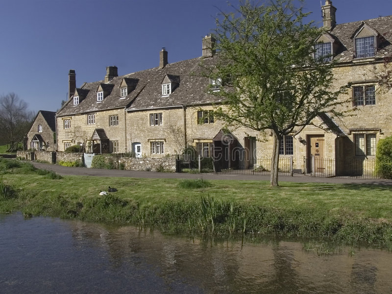 Download Lower slaughter village stock photo. Image of midlands - 1712296
