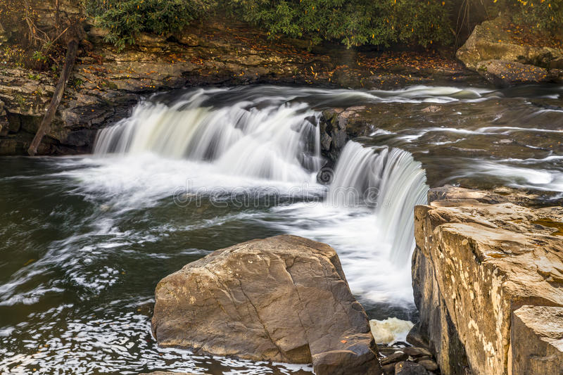 Lower Swallow Falls on the Youghiogheny royalty free stock image