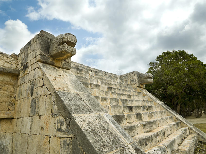 Lower temple of jaguar Chichen Itza. Mexico royalty free stock photos