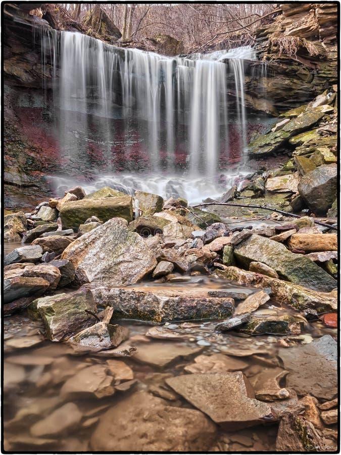 Lower Westcliffe Falls, Hamilton, Ontario stock photo