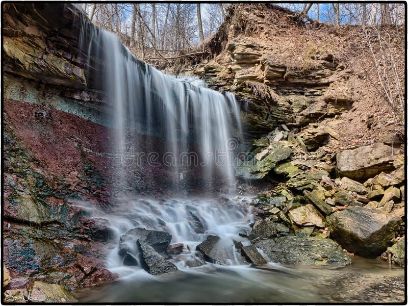 Lower Westcliffe Falls, Hamilton, Ontario royalty free stock photos