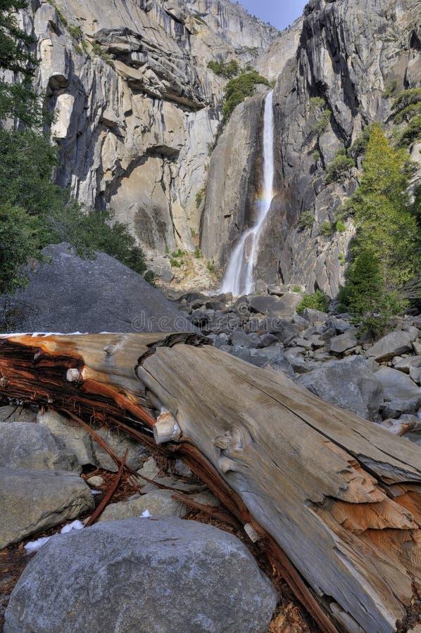 Download Lower Yosemite Fall In Winter Stock Image - Image: 12346795