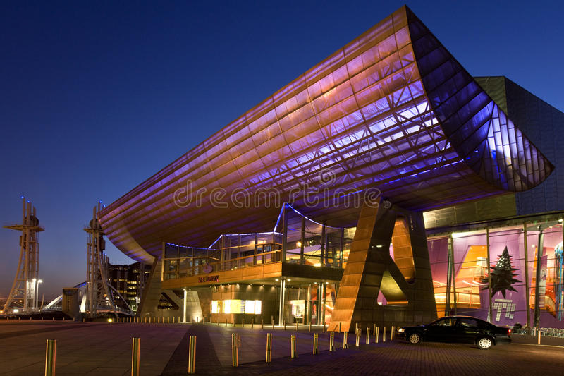 Lowery Centre on Salford Quays - England stock photo