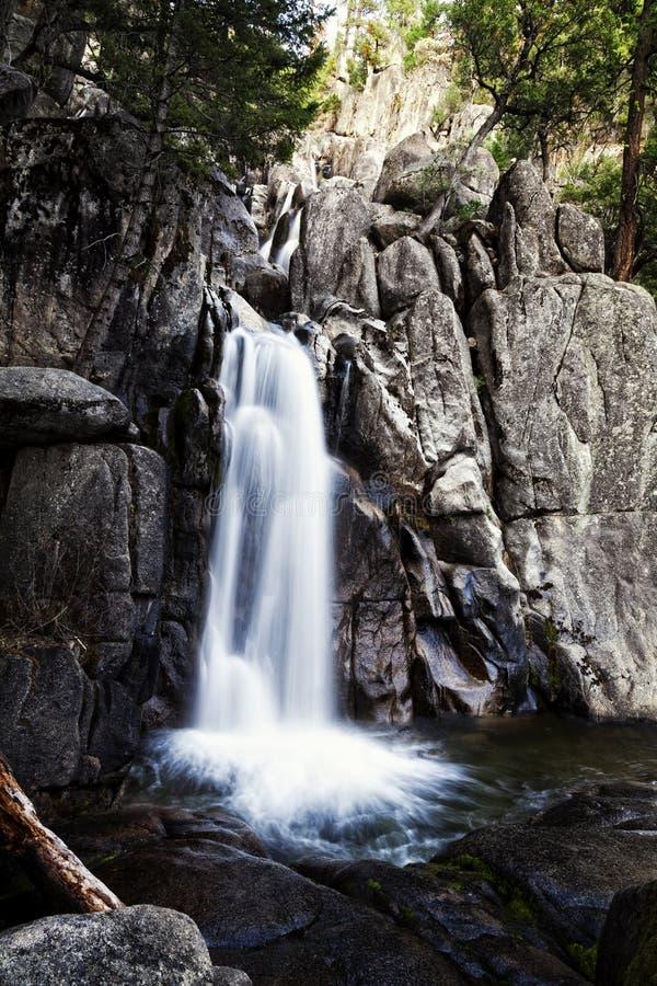 Lowest Chilnualna Falls Long Exposure Yosemite Park stock image