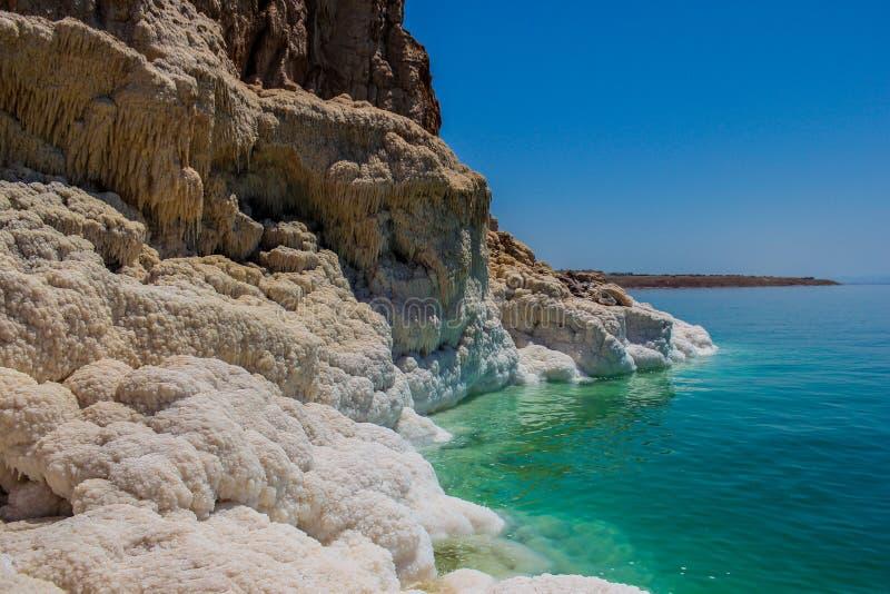Jordan Dead Sea Salt Tourist Location. The Lowest Place On Earth, The Dead Sea Jordan Tourist Location stock photos