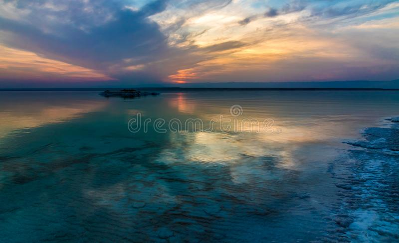 Jordan Dead Sea Salt Tourist Location. The Lowest Place On Earth, The Dead Sea Jordan Tourist Location royalty free stock photography