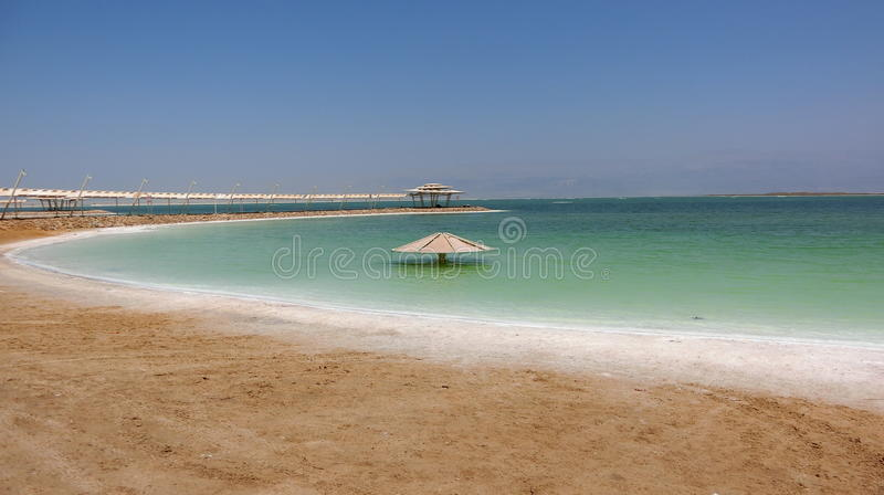 The lowest point on earth stock photos