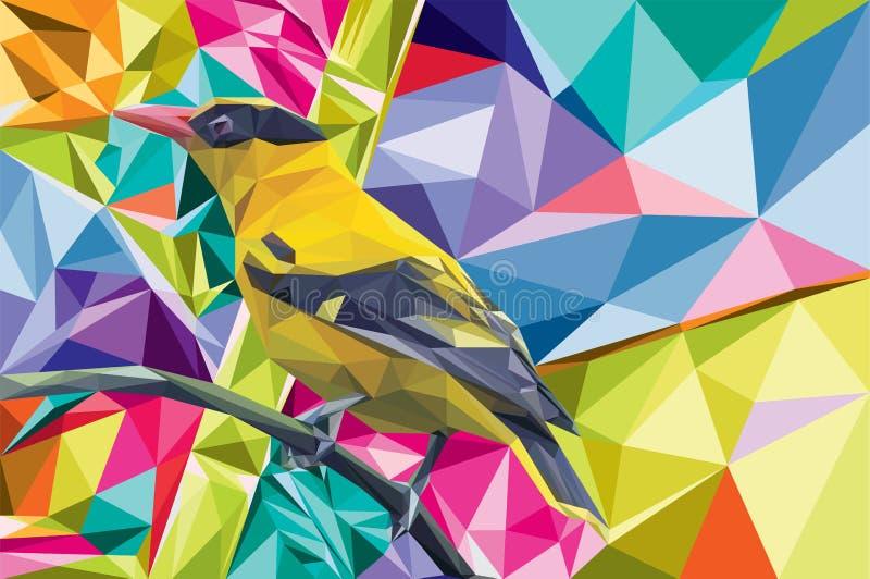 Lowpoli del vector del pájaro ilustración del vector