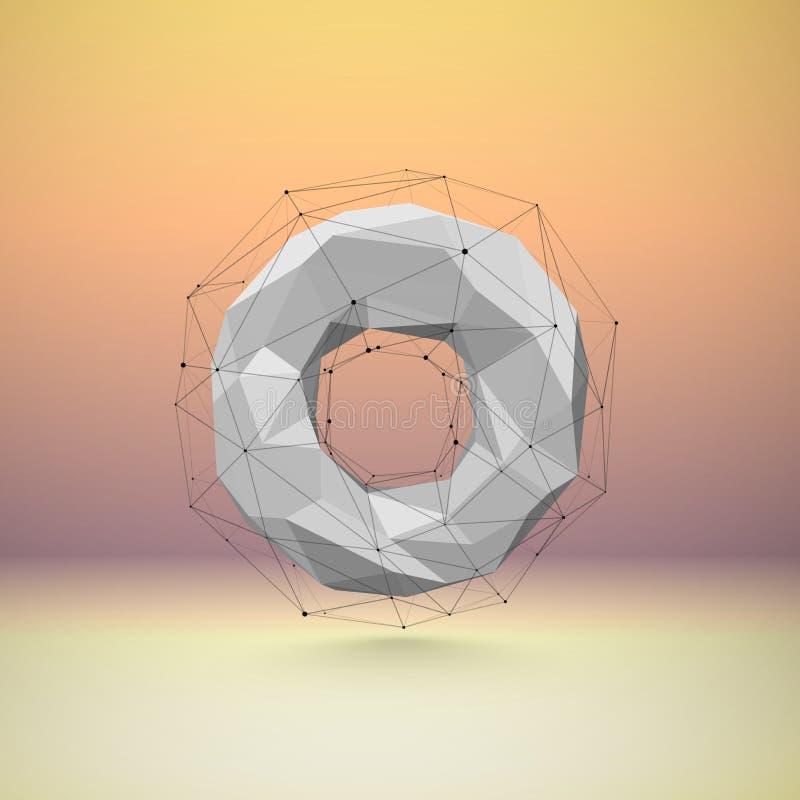 lowpoly объект 3d иллюстрация вектора