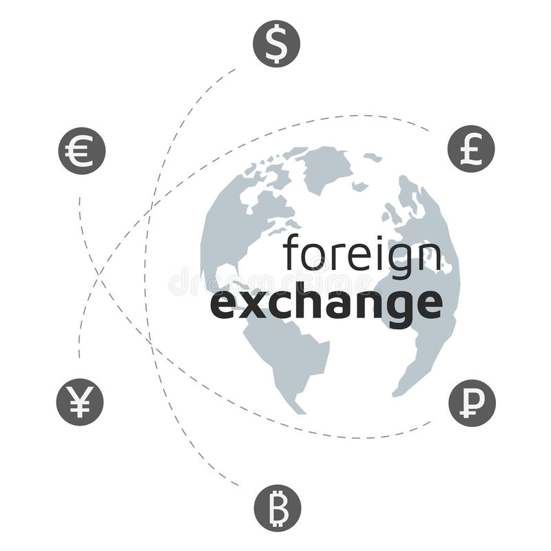 Lowpoly globe, money and bitcoin icon. Abstract sign currency ex vector illustration