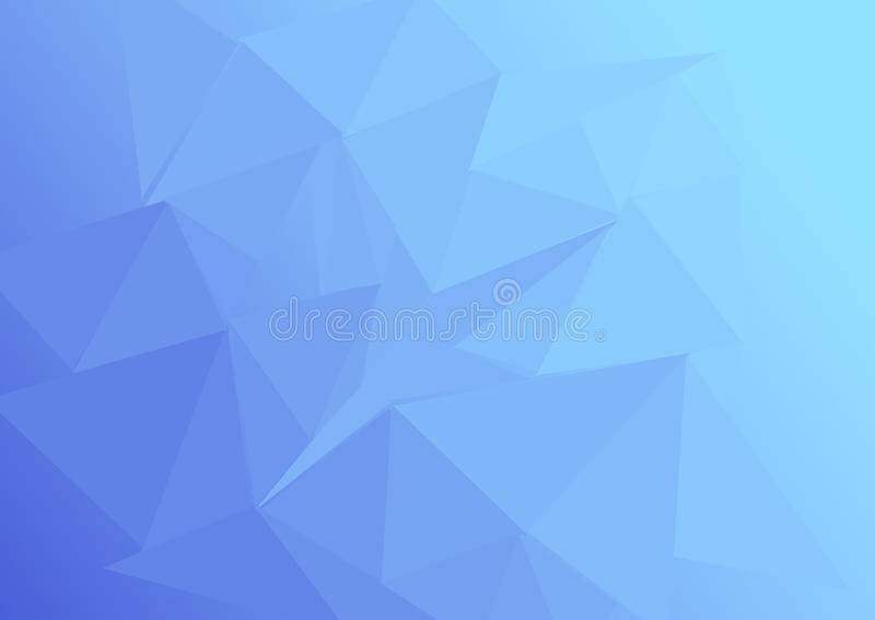 Lowpoly gradaci błękit obraz stock