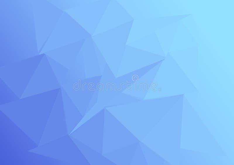 Lowpoly gradation blue stock image