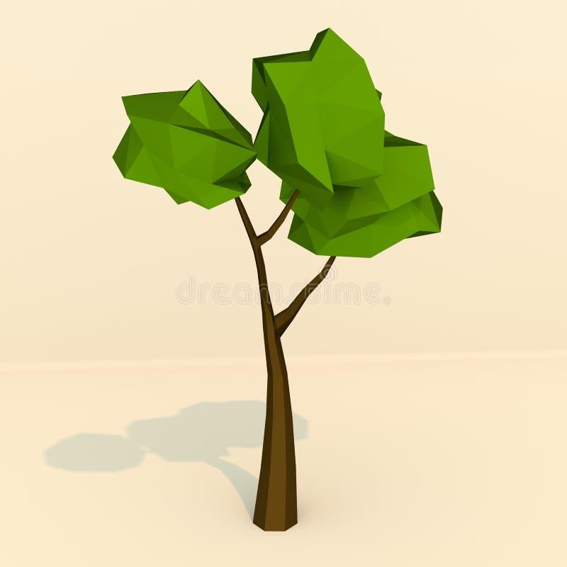 LowPoly träd royaltyfri fotografi