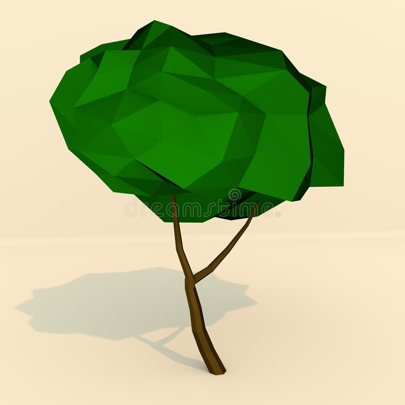 LowPoly träd royaltyfria bilder