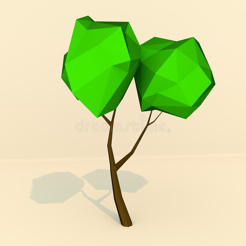 LowPoly träd arkivfoto