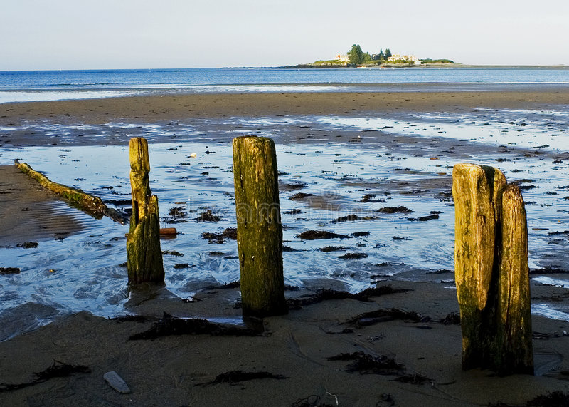 Lowtide au Maine photographie stock