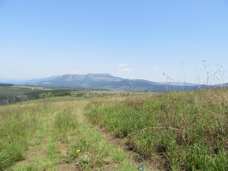 Lowveld scenery. On the way to Graskop, farm road, Lowveld SouthAfrica stock photography