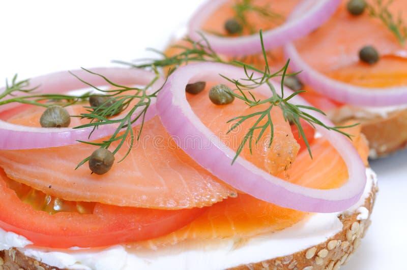 lox bagel стоковое изображение