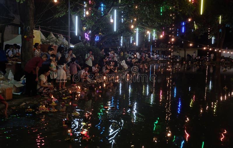 Loy Krathong Festival stockfotografie