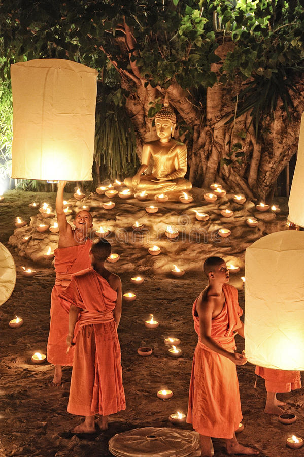 Loy Krathong Festival In Chiangmai Editorial Photo