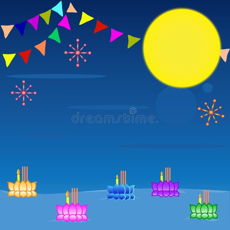 Loy Kratong Festival Background fotos de stock royalty free