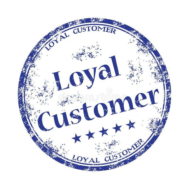 Loyal customer rubber stamp stock photos