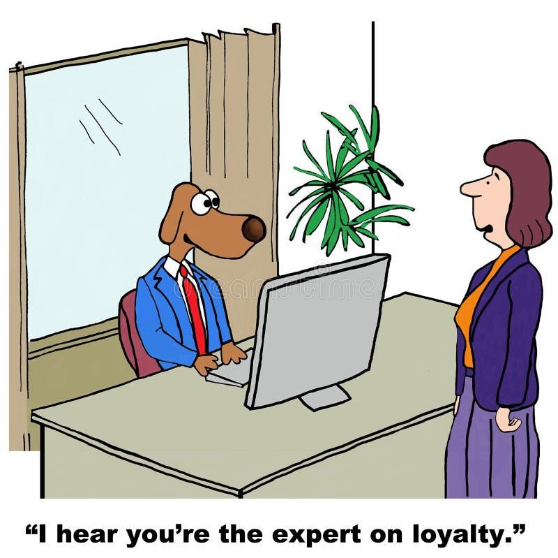 loyalität stock abbildung
