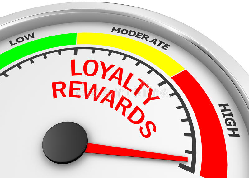 Loyalitätsbelohnungen lizenzfreie abbildung