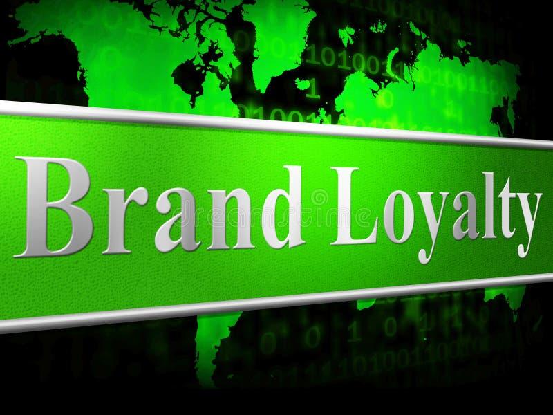 Loyaliteitsbrand Means Company Identiteit en Steun vector illustratie