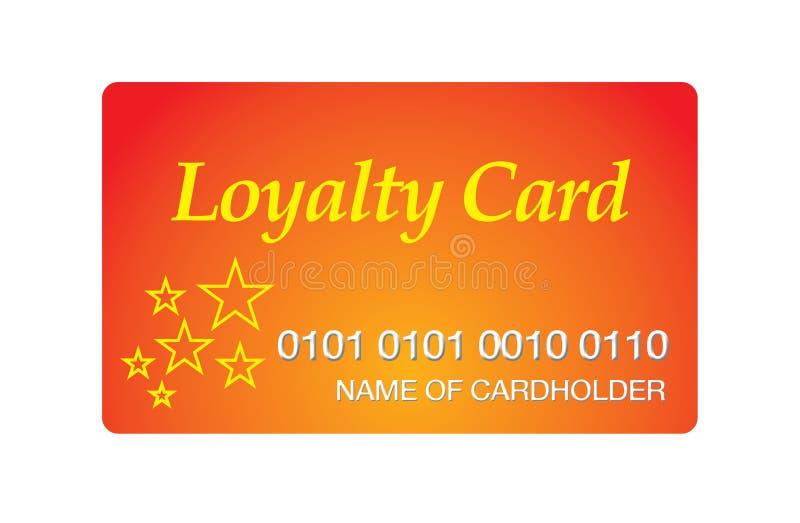 Loyalty card. Illustration of an orange loyalty card stock illustration