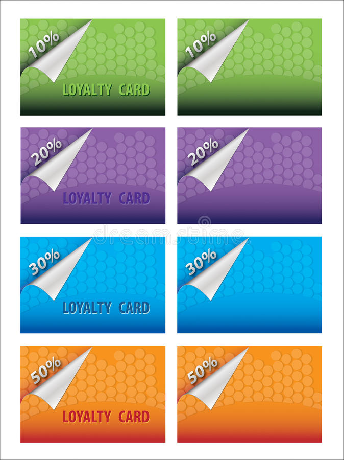 Loyalty card royalty free stock images