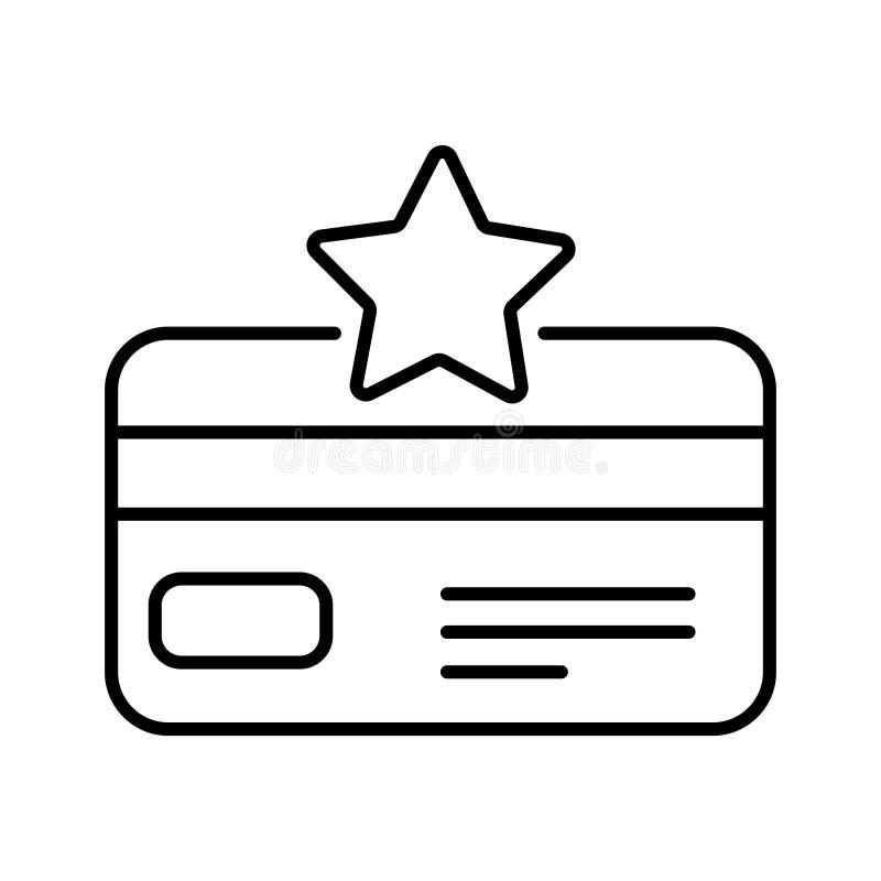 Loyalty card vector icon. Bonus points illustration symbol. Discount program logo or sign. stock illustration