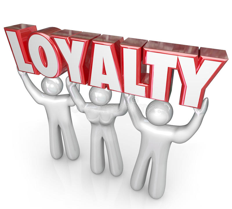 Free Loyalty Word People Team Lifting Together Dedicated Devotion Royalty Free Stock Image - 40215036