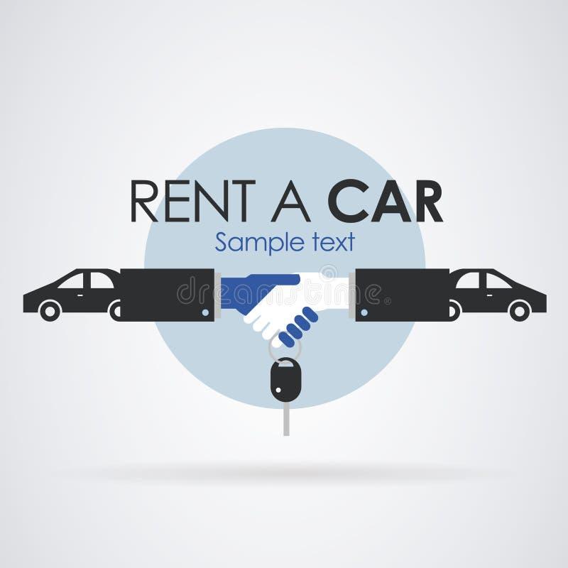 Loyer de logo une voiture illustration de vecteur