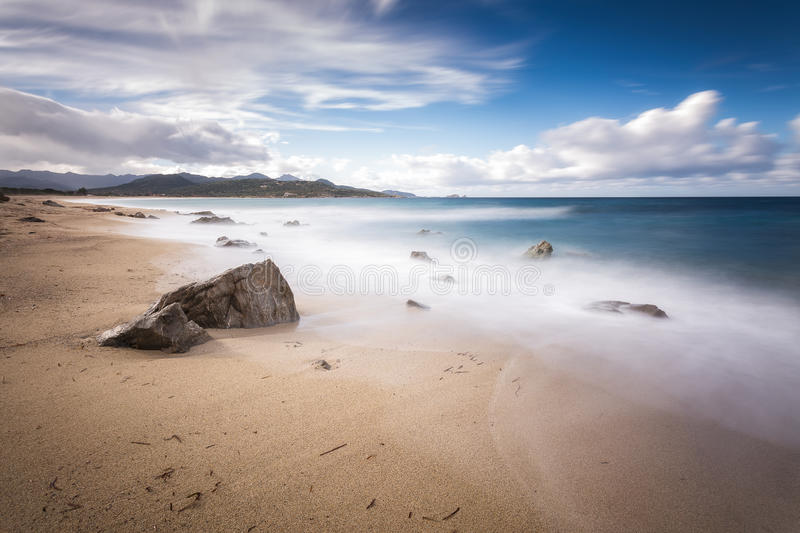 Lozari beach near Ile Rousse in Corsica royalty free stock image