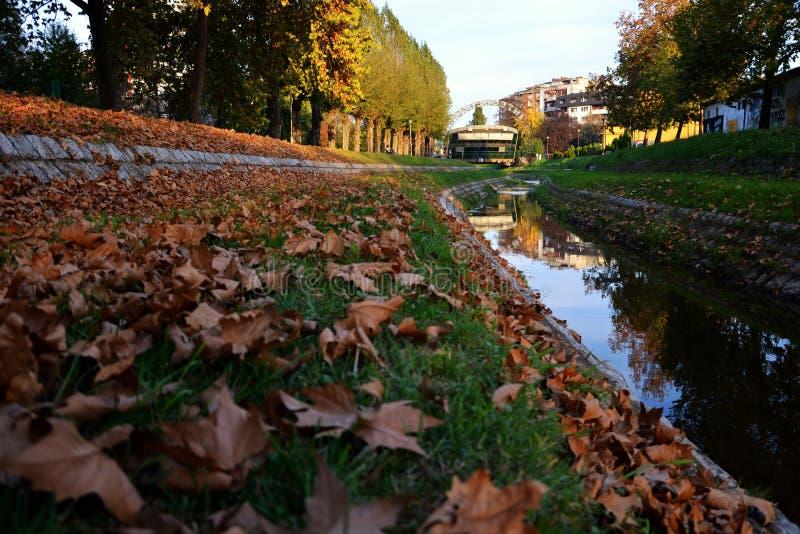 Loznica, Serbia. River Stira in Loznica, Serbia royalty free stock photography
