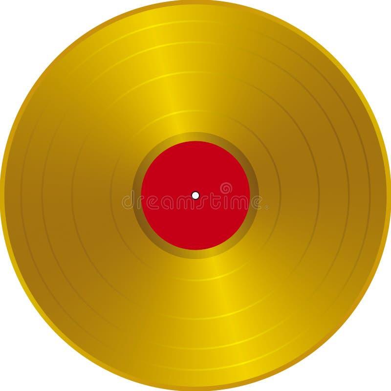 LP dorato royalty illustrazione gratis