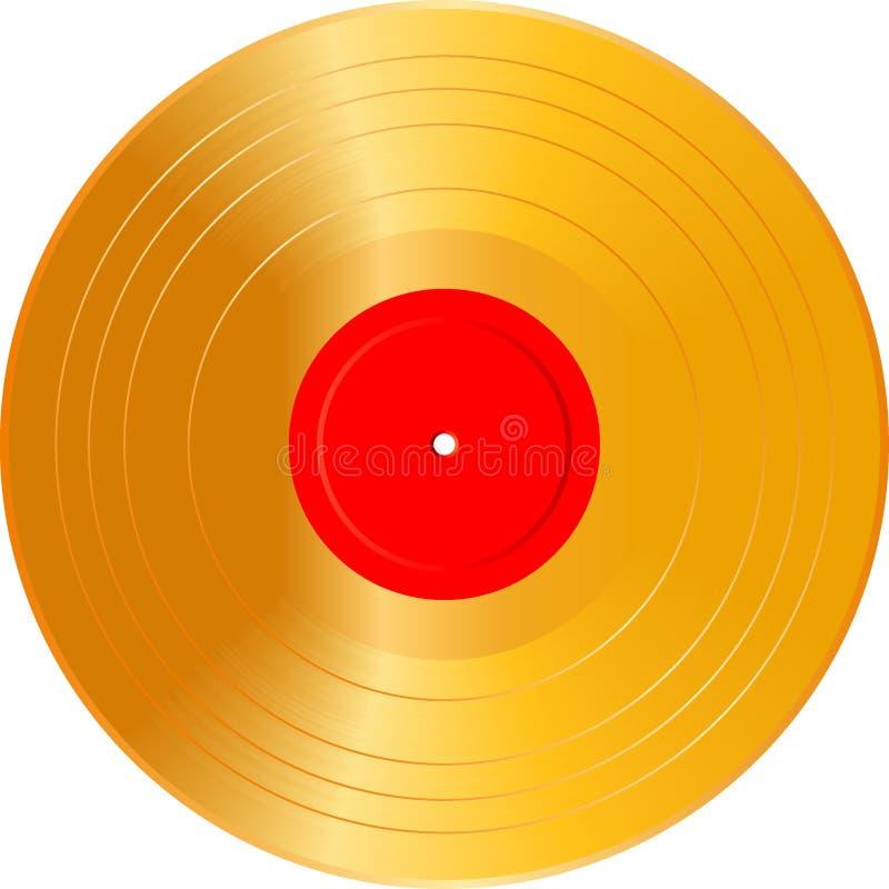 LP dorato in bianco illustrazione vettoriale