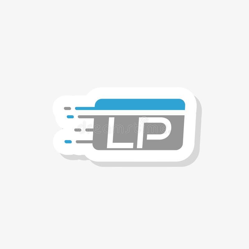 LP L P信件商标设计 创造性的现代信件象商标例证 皇族释放例证