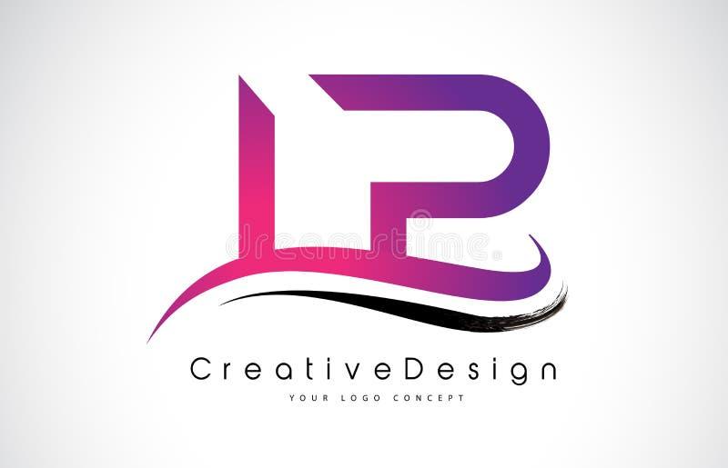 LP L P信件商标设计 创造性的象现代信件传染媒介L 皇族释放例证