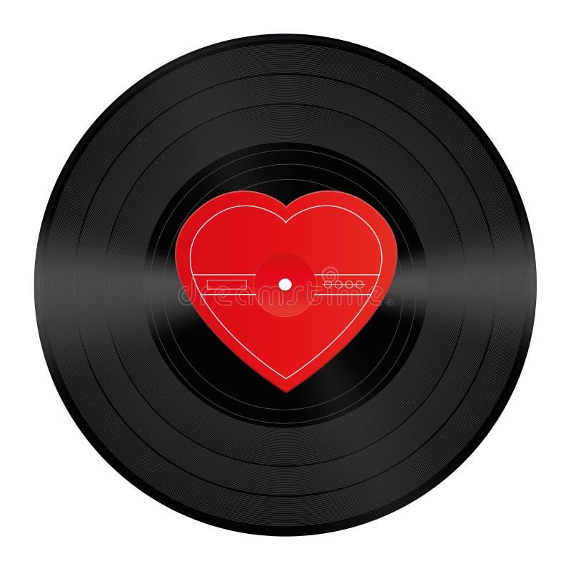 lp record vinyl heart love song stock vector illustration of rh dreamstime com vinyl record player vector vinyl record vector art
