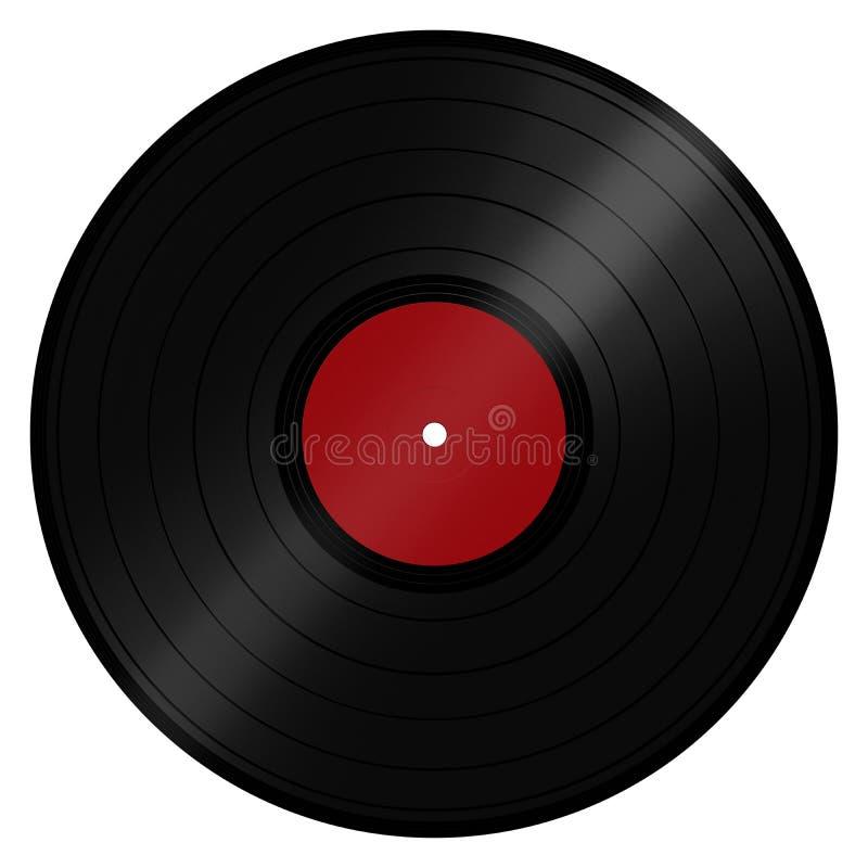 LP Winylowy rejestr royalty ilustracja