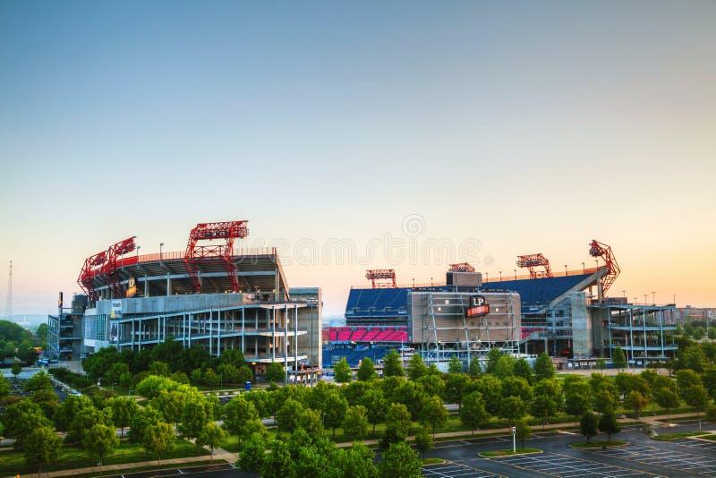 LPfält i Nashville, TN i morgonen royaltyfri bild