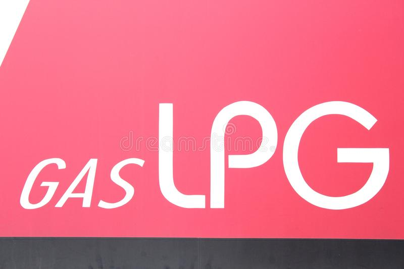 LPG gas sign and symbols stock image
