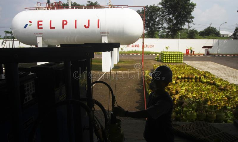 LPG-GASCYLINDRAR royaltyfri fotografi