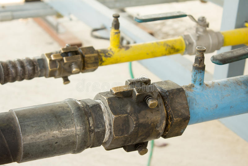 LPG-gassation royalty-vrije stock foto