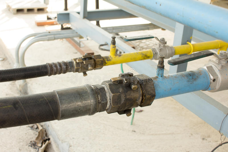 LPG-gassation stock foto's