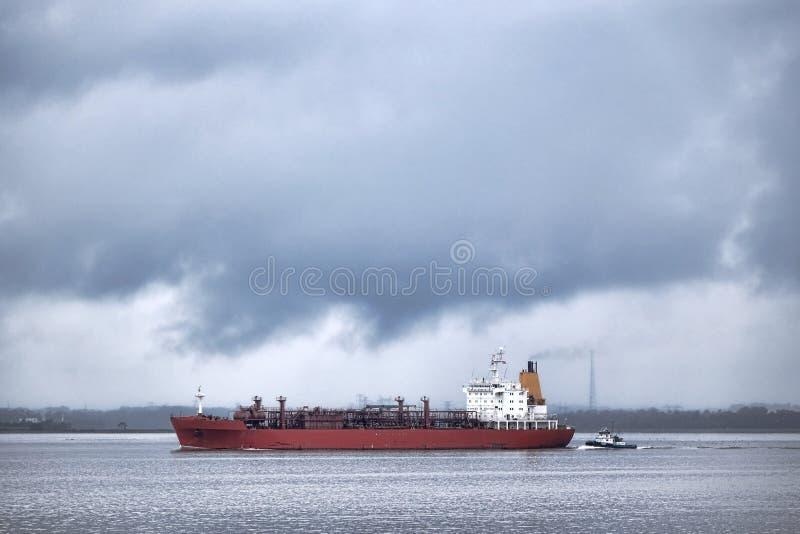LPG Upłynniający ropa naftowa gazu tankowa statku żeglowanie fotografia stock